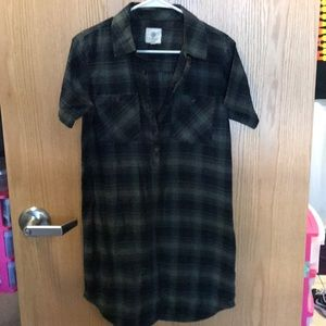Element Brand plaid shirt dress